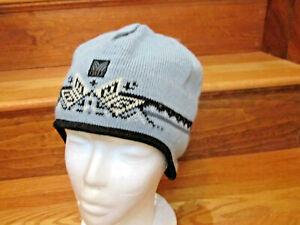 $95 Dale Of Norway Wool Hat Ski Beanie Covers Ears Blue Black Poms Ladies Large