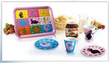 SET COLAZIONE BARBAPAPA' Ferrero Kinder Kit Vassoio Tazze Piattini Bambino NEW