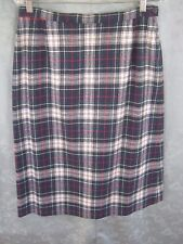 80's Pendleton Plaid  Career Skirt Size 16 NWOT Mackenzie Dress Tartan