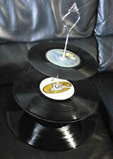 Unusual Funky Three Tier Cake Stand made from old Vinyl records (silver)