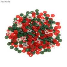 300pcs Mixed Christmas Color Round Resin Buttons Sewing Scrapbooking Decor 9mm