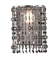 Deko Stoff Lampenschirm E27 für Bogenleuchte Hängeleuchte 570 Ø 23cm schwarz