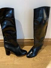 CHRISTIAN LOUBOUTIN BOOT BLACK CATE FLAT KNEE HIGH  SIZE 41/ 7.5 UK