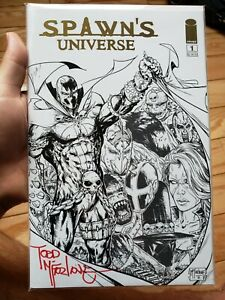 Spawn's Universe #1 / Gold Foil VARIANT Todd McFarlane SIGNED!! / *RARE* / NM