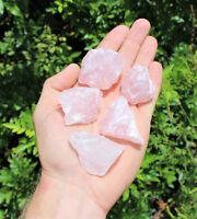 5 x Natural Rough Rose Quartz Crystals (Raw Specimen Healing Reiki Love Stone)