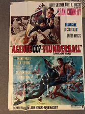 Thunderball James Bond 1965 large original vintage Italian movie film poster