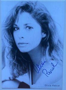 Orig. sign. Autogrammkarte Olivia Pascal Schauspielerin TV S/W