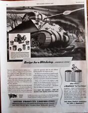 Recipe for a Blitzkrieg American Style WWII M-4 Tank Ad