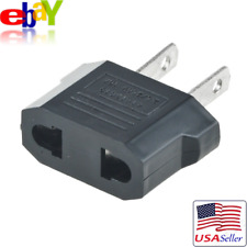 European Euro EU to US USA Plug Travel Charger Adapter Outlet Converter NEW!