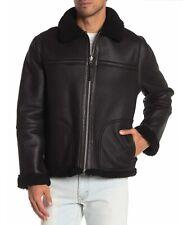 Vince Men's Black Reversible Genuine Shearling Lamb Leather Jacket MSRP $1,695