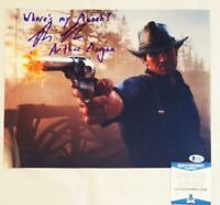 ROGER CLARK ARTHUR MORGAN SIGNED 11X14 PHOTO RED DEAD PHOTO BAS COA 482
