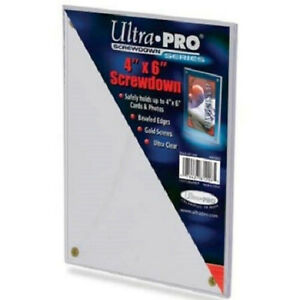 "NEW Ultra Pro Screw Down Series 4"" x 6"" Card Display Case Sports Screwdown 81206"
