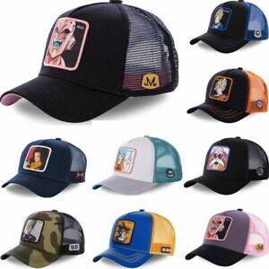 Unisex Dragon Ball Z Adjustable Snapback Trucker Baseball Hats Caps Anime Solid
