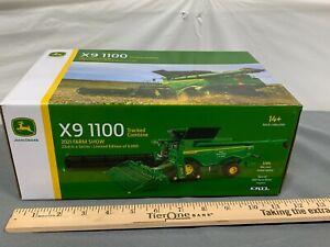 John Deere X9 1100 Combine on Tracks 2021 Farm Show Ertl NIB 1:64 LP79359