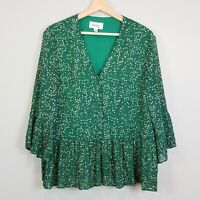 [ FEATHER+NOISE ] Womens Print Blouse Top - As New |  Size AU 8 or US 4