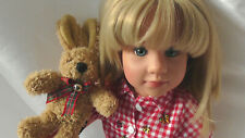 GÖTZ  Puppe MARIE von S. Skille * 2005 * Originalkleidung *+ Hase FELIX* SELTEN!