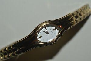 SEIKO Watch 1N00-0FX0 Ladies Quartz White Dial Japan Mov't Used Works Fine