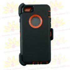 For iPhone 6 Plus / 6s Plus Defender Case w/ Clip fits Otterbox Black Orange