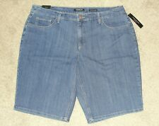 Jones NY Signature Gramercy Curvy Mid-rise Size 20w Denim Shorts Waist 41 RP
