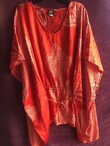 Anne Namba Hawaii Silk Kimono Long Blouse sz. XL