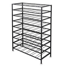 Metal Wine Rack Sturdy Iron Frame 54 Bottle (6 x 9 Tiers ) Large Capacity
