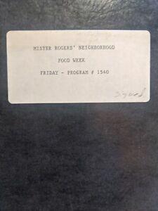 Mister rogers neighborhood Food Week Program #1540 Signed Script