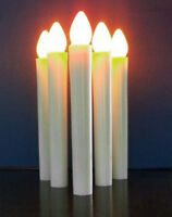 White Taper LED Battery Stick Candle Wedding Table Room Candleabra BUY QTY Rqd