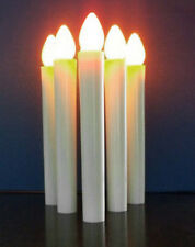 25 White Taper LED Battery Stick Candle No Stand Wedding Table Room Candleabra