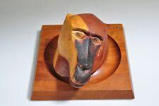Piet Hein Baboon Head Sculpture Wood Carving Denmark