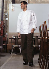Uncommon Threads Classic Knot W/ Mesh Chef Coat, Black or White, Xs to 6Xl, 0427