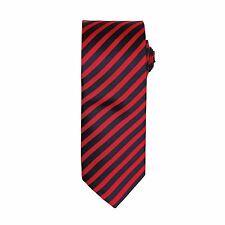 Mens Striped Plain Tie Wedding Classic Business Formal Necktie Double Stripe