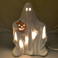 Vintage Pacific Rim Halloween Ghost Lamp Light Pumpkin Fall Nightlight Spooky