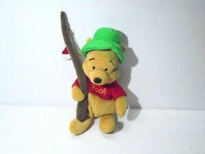 "Winnie the Pooh Fishing Fisherman Plush Toy 9"" tall"