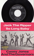 """CASEY JONES & THE GOVERNORS - JACK THE RIPPER  Very rare 1965 german 7"""" P/S! EX"""