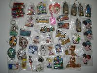 KEY RINGS ASSORTED BULK LOT OF 45 FOR MARKETS DISNEY ETC FREE POSTAGE