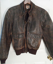 Vintage Banana Republic Mill Valley Brown A-2 Style Leather Jacket -- Sz 42 (Lg)