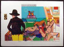 "Richard Merkin ""Nagasaki"" Signed Numbered Serigraph Art 1980 AP Make Offer!"