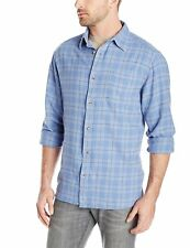 Mountain Khakis Men's Ski Bum Flannel Shirt, Light Blue Multi, Small