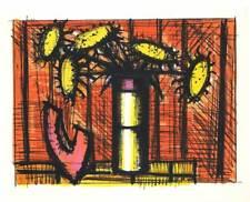 Bernard Buffet, Sunflowers and Melons, 1967 Color Lithograph