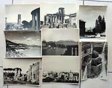 8 GRANDES PHOTOS 1950 ITALIE FLORENCE ROME TIVOLI SALERNE COME M994