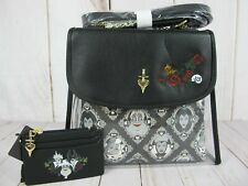 Loungefly Disney Villains PVC Damask Crossbody Bag & Cardholder 3pc ~ NWT