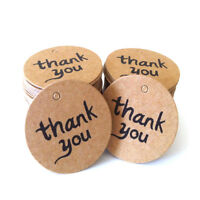 100PCS Kraft Paper Hang Tags Wedding Party Favor Label thank you Gift Cards EDZY