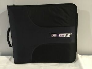 Crop in Style PSB Black on Black Zippered 3-ring Binder Carrying Case