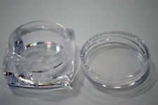 CLEAR PLASTIC SQUARE JARS CONTAINERS FOR EYESHADOWS,GLITTER, DIAMANTES 10/pk