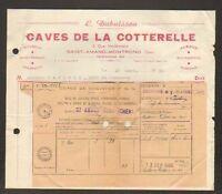 """SAINT-AMAND-MONTROND (18) CAVES DE LA COTTERELLE / VINS """"L. DUBUISSON"""" 1950"""