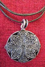 Celtic Endless Mystic Knot Irish Amulet Iona Celt Silver Plated Pendant Necklace