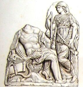 """""""Musee des Antiques"""" -c1811- SUPPLIMENTAL BAS RELIEF"""