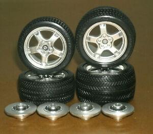 1/18 Scale Goodyear Eagle F1 Tire Set on C5 Corvette Rims Diorama Model Wheels