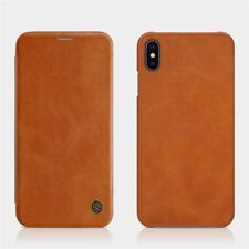 Ultra-thin Luxury Flip Leather Wallet Case Cover For iPhone XS Max .BROWN Color