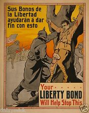 Philippines USA Amorsolo Liberty Bond World War 1 Poster 10x8 Inch Reprint